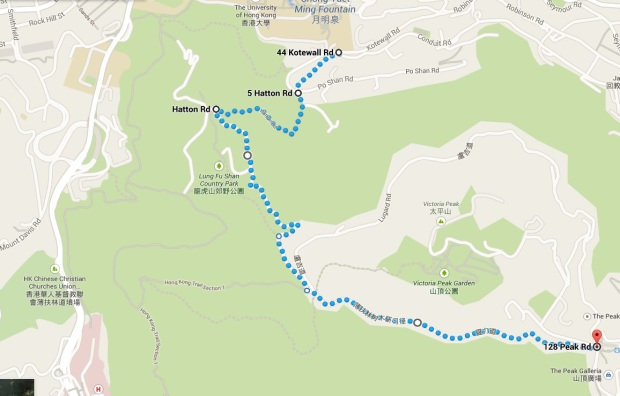 the most popular route to The Peak