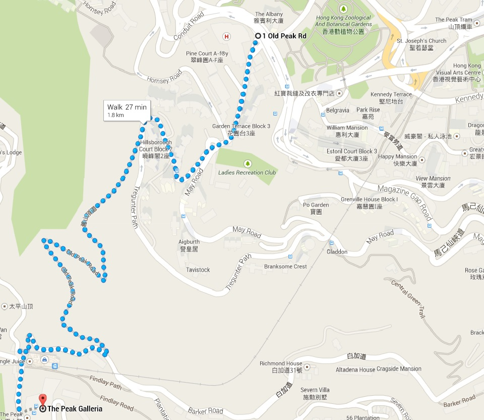 how to go to victoria peak hong kong from mongkok