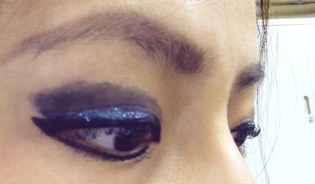 results (as seen from the side) : no eyelash curler used, just mascara