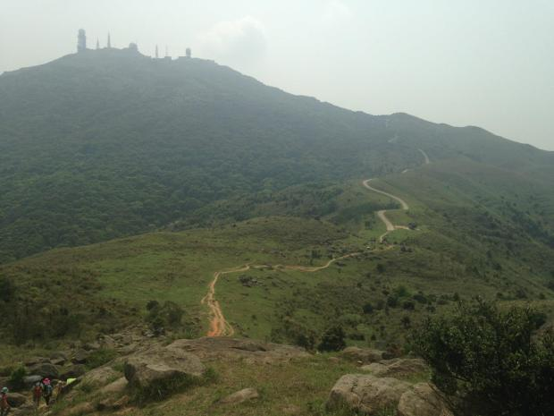 the best part of the hike. At the top there you can see the highest point on Tai Mo Shan, occupied by a Hong Kong Observatory (ex-British RAF) weather radar station