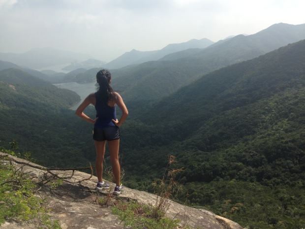 up on the quarries, facing Tai Tam Reservoir