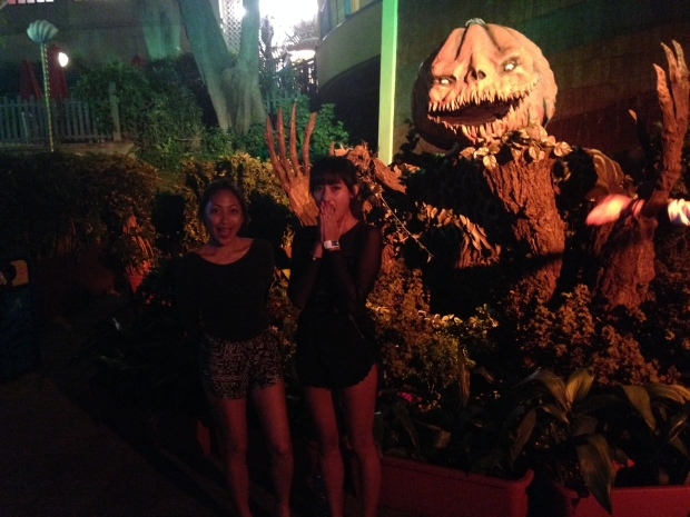 with my sister Joyce @ Ocean Park's Halloween Fest 2014