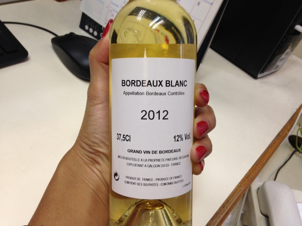 Bordeaux Blanc - thanks Regina from PRIME!