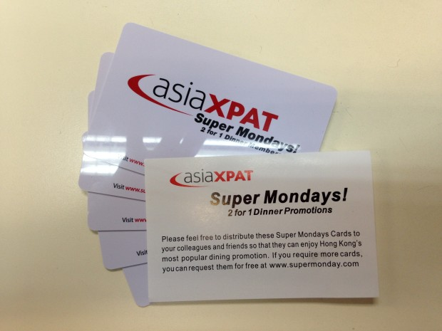 You can use these SUPER MONDAYS cards free from AsiaXpat (which I just got this morning) or walk in like we did and ask for the promotion!