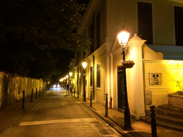 We discovered the beautiful old cobblestoned streets - follow the signs to Old Taipa Village