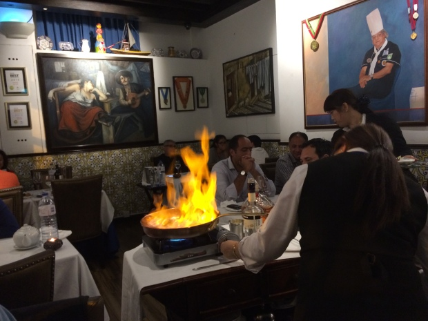 Crepe Suzette on fire