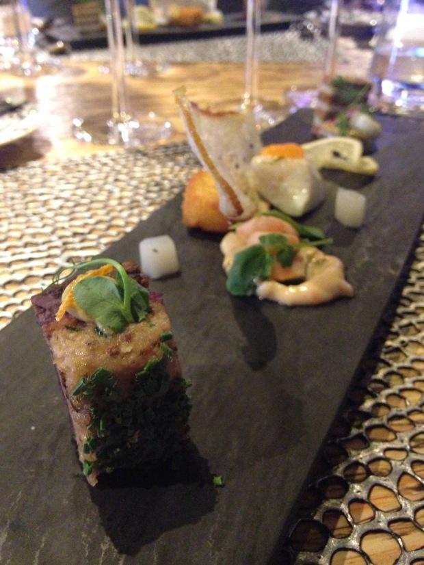 """""""fine dining sandwiches"""" : Sennep Marinerede Sild – Mustard Herring, Potato Stjerneskud – Halibut, Shrimp Flæ skesteg Med Rødkål – Crackling Pork, Red Cabbage"""