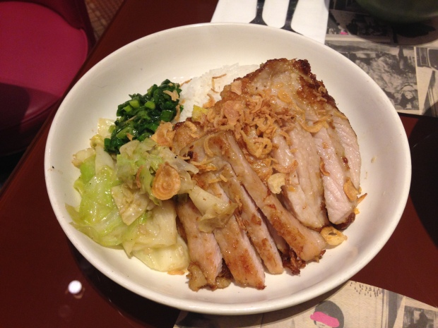Lemongrass pork chop (HK$95)