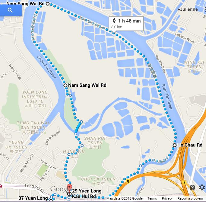 Nam Sang Wai Cycling Nam Sang Wai Cycle Route Map
